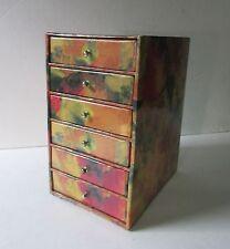 Jewelry Storage Organizer Mini Cabinet with 6 Drawers - Hard to Find