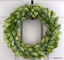 SHABBY CHIC ARTIFICIAL HOPS WREATH HANDMADE COTTAGE DECOR HOME DECORATION AUTUMN