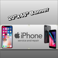 CELL PHONE REPAIR BANNER we fix ipad android ios tablet iphone X8 computer 20x48