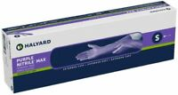 Halyard Max Powder-Free Nitrile Medical Exam Extended Cuff 50 Gloves Small 44992