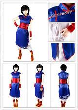 Dragon Ball Chi Chi Blue Cosplay Costume Halloween Girl's Dress CheongsamSashNEW
