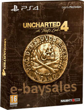 NEW RARE UNCHARTED 4 A THIEF'S END SPECIAL EDITION W/ STEELBOOK UK PS4 PRO GAME