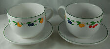 2 Large Oversize Breakfast Cups & Saucers Soup Chocolate