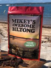 Mikeys Awesome Biltong - Texan Smokey Flavour 225grams