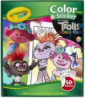 Crayola Color & Sticker Trolls World Tour 32 Pages & 50+ Stickers