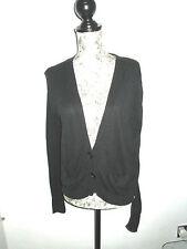 Atmosphere- Black Fine Knit Long sleeved cardigan Size 8