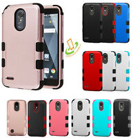 For Samsung GALAXY J3 2018 HYBRID Shockproof Rubber Rugged Hard Case Phone Cover