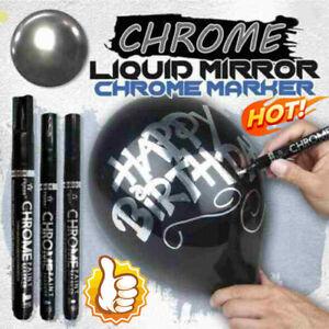 Silver Liquid Mirror Chrome Marker Pen 0.7mm/1mm/3mm Multifunction DIY