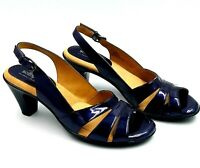Softspots Neima Womens Metallic Navy Patent Leather Dress Sandals US 7.5 N