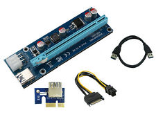 USB3.0 1x to 16x Extender Riser Card Adapter SATA Power Cable PCI-E Express BEST