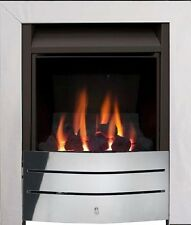 GAS FIRE CHROME INSET COAL FULL DEPTH 4kW CLASS1 FLUE FIRE 5 YEAR WARRANTY BNIB