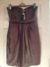 New With Tags Untold Gold/bronze Strapless Dress Size 14 Prom/party