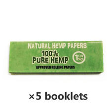 HEMP Tobacco Natural Hemp Rolling Papers 78*44mm 5 Booklets=250 leaves smoking