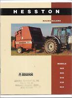 Original OEM Hesston 514 530 540 555 565 Round Balers Sales Brochure # 79016195