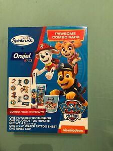 New Orajel Kids Spinbrush Pawsome Combo Pack Paw Patrol Nickelodeon