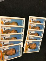 1989 Topps Gary Sheffield Rookie Card #343 Milwaukee Brewers. Lot of (10)