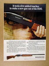 1968 Winchester Model 1400 Mark II Shotgun gun photo vintage print Ad