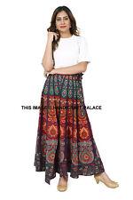 Mandala Wrap Around Skirt Sarong Dress Cotton Maxi Skirt Long Skirts for Women