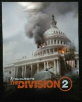 Double-sided Promo Poster Tom Clancy's the Division 2 Xbox One Ps4 Rare Ubisoft