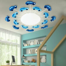 Children ceiling lamp blue game room car design glass wall lamp satined modern