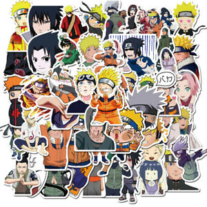 Anime Cartoon Stickers Pack Naruto Ninja No Repeat Laptop Phone Toy Decal 2.5""