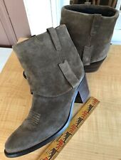 PAUL GREEN Tulsa suede Western chunky booties Ankle boots AUS 6.5/ US 9 Taupe