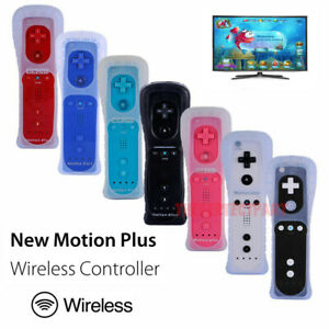Built in Motion Plus Remote Controller For Nintendo Wii & Wii U Wiimote Gel Case