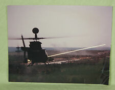 Photograph Bell Helicopter Shooting Weapon Tracer Round Missile Dusk Color 8x10