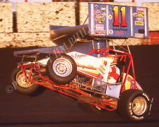 SPRINT CAR PHOTO WORLD OF OUTLAWS STEVE KINSER PETELUMA RACEWAY 1983