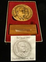 2.75 Inch Official 2nd Inauguration Medal - 7-20-1997 Bill Clinton & Al Gore