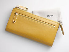 G7060 Authentic FENDI Genuine Leather Long Wallet