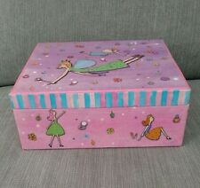 fairy dust shimmer jewelry box pink fairys childrens girl jewelry box w/ mirror