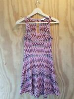 Candie's Women's A-Line Dress Sleeveless Scoop Neck Multicolor Polyester.Size XS