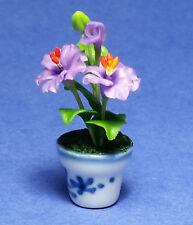 Dollhouse Miniature Hibiscus Lavender Plant Flowers 1:12 Scale New D2801