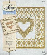 Spellbinders Shapeabilities Cut Emboss Stencil Lovin' Diamonds 2pcs Die Cutting