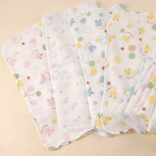 5 x 100% Cotton Super Cute Baby Gauze Muslin Square Cloths 30X30cm Health Design