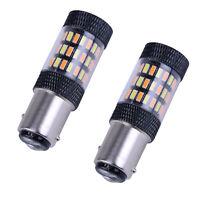 1157 LED Strobe Flashing Red Brake Tail Stop Light/Parking Safety Warning Bulbs