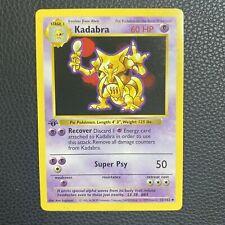 1999 Pokémon Base Set 32/102 Kadabra 1st Edition Shadowless NM
