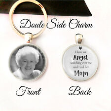 Personalised Double Sided Keyring Memory Bereavement Mum Mom Mother Angel Gifts
