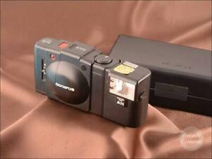 Olympus XA2 Point & Shoot Film Camera inc Flash Unit & Case  - VGC - 131