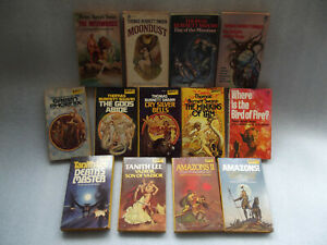 Fantasy pulp vintage Daw (et al) paperbk job lot Thomas Burnett Swann Tanith Lee