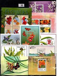 BK 10 S/S - MNH - MIX - NATURE - PLANTS - FLORA - FLOWERS - BUTTERFLIES
