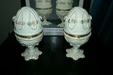 Set Of  2 Porcelian Egg Boxes from the  Treasury of Gifts