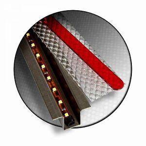 """GhostLight - Red w/ White LED 10.5"""" Fixed Dual Flush Mount Light Kit shaved"""
