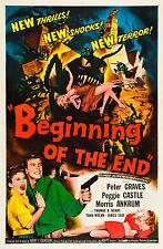 Encadrée Rétro Affiche de cinéma-début de la fin 1957 (réplique imprimer film art)