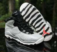 Nike Air Jordan 10 Retro GS Size 7Y Cement Light Smoke Grey Black 310806-062