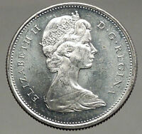 1968 CANADA United Kingdom Queen Elizabeth II Silver 25 Cent Coin CARIBOU i56667