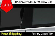MERCEDES 2007-2012 GL  6p CHROME WINDOW SILL Trim Stainless Steel