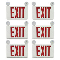 6/12 PACKS LED Emergency Exit Sign Light with 2 Frog Eyes Red Double Sided