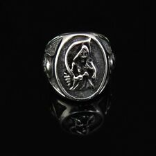 Outlaw SKULL Devil Road King Silver Ring for Son of Anarchy SOA Biker TR124